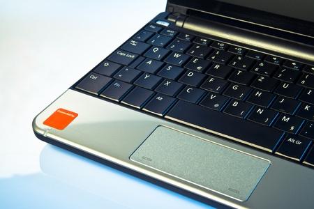 NetBook Computer studio shot on the blue tabletop