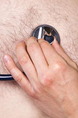 Stethoscope exam - heart listening photo