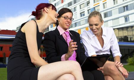 Young business women in urban area Stock Photo