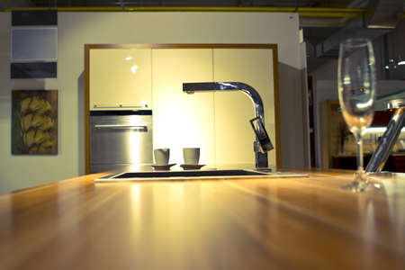 Modern kitchen pipe and sink