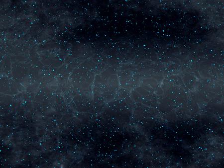 Deep Universe - Gravitational Waves - Dark Matter - Cosmic Dust - Dark Cosmic Cloud - Abstract Illustration