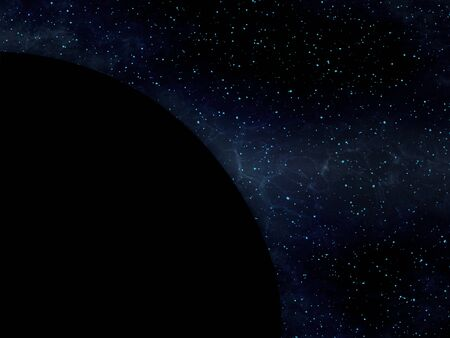 Deep Universe - Cosmic Dust - Dark Cosmic Cloud - Abstract Illustration Stok Fotoğraf