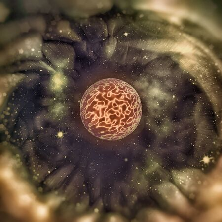 Black Hole - Crossing the Event Horizon - Abstract Illustration