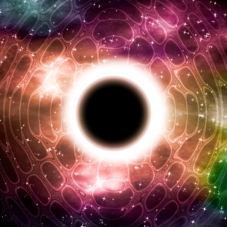 Eclipse - abstracte wetenschappelijke illustratie