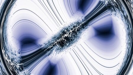 Inside the Black Hole - The Universe Beyond the Event Horizon - Abstract Illustration Stok Fotoğraf
