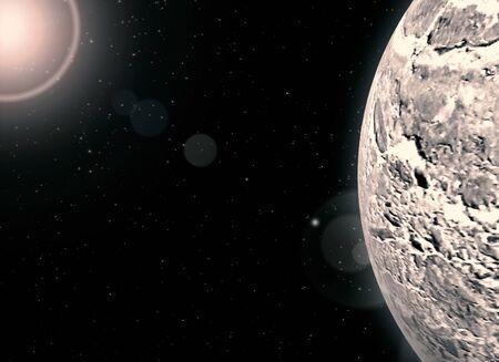 Exoplanets - Extrasolar Planets - Abstract Illustration Stok Fotoğraf