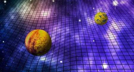 Space Time Distortion - Universe Background Stock Photo