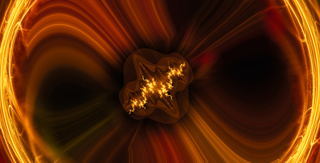 Inside the Black Hole - The Universe Beyond the Event Horizon - Abstract Illustration Stock Photo
