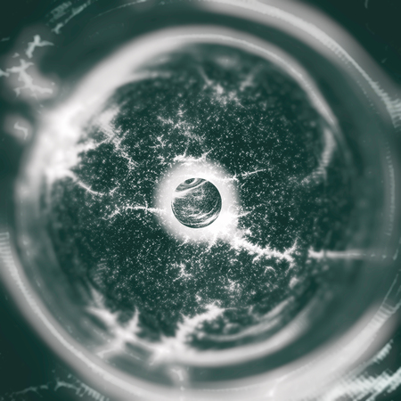 Inside the Black Hole - The Universe Beyond the Event Horizon - Abstract Illustration 版權商用圖片