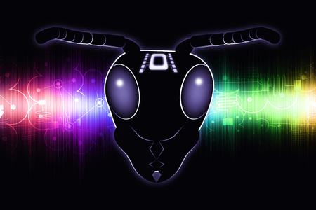 Micro Robotics - Wasp Robot - Future Technology - Abstract Illustration Stock Photo