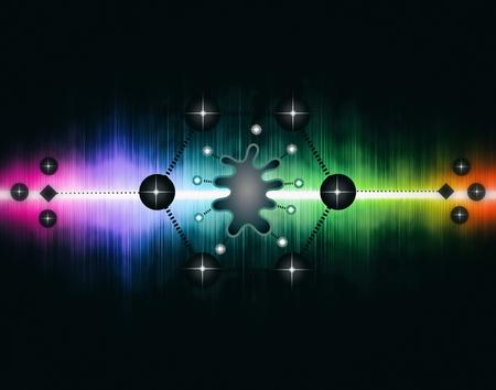 Neuromorphic Chip - Futuristic Biochip - Abstract Illustration