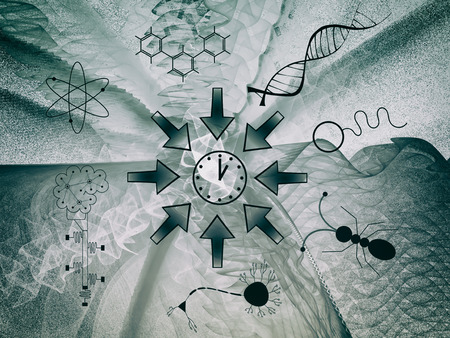 Convergent Evolution - Space - Time - Life - Consciousness - Abstract Illustration Stok Fotoğraf