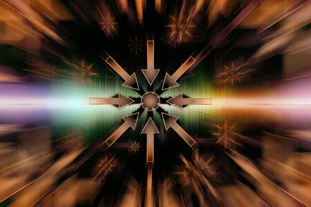 Geometric Convergence - Abstract Illustration