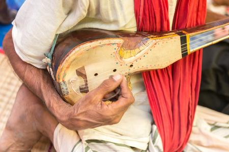 One stringed musical instrument known as Ektara in Bangladesh