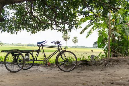 rikscha: Rikschafahrer fangen eine Pause im Zentrum von Dhaka, Bangladesh Lizenzfreie Bilder