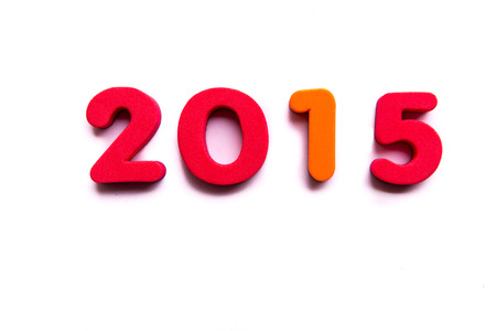 2015 word in white background photo