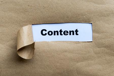 backlink: Content Torn Paper Concept