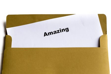 amazing word in the envelope photo