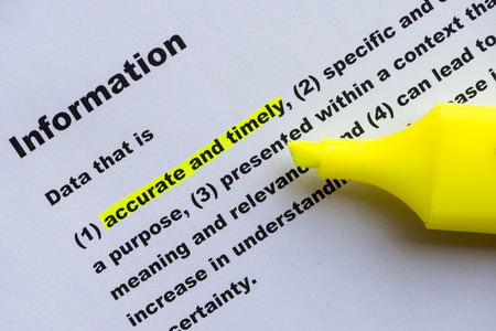 definition: main keyword of information definition highlighted Stock Photo