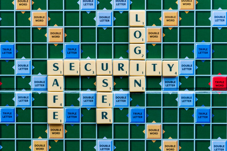 logon: security Crossword on the colorful game board