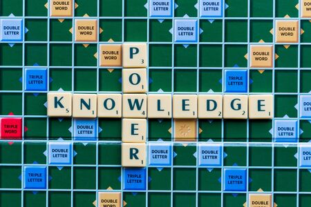 knowledge is power: knowledge power Crossword on the colorful game board