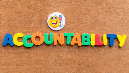 deliverable: accountability colorful word on the wooden background