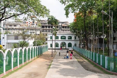 seventeenth: DHAKA,BANGLADESH - APRIL 24: Hussaini Dalan on April 24, 2015 in Dhaka,Bangladesh. Hussaini Dalan was built in the seventeenth century as the house of the religious leader of the Shia Islam.  It was built as the Imambara or house of the imam (religious le