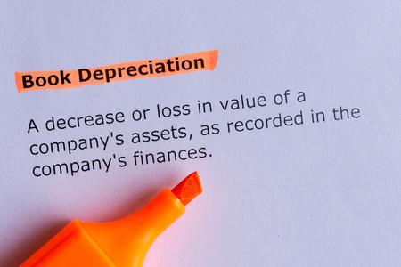 depreciation: book depreciation Stock Photo