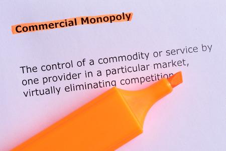 monopolio: palabra monopolio comercial destac� en el Libro Blanco