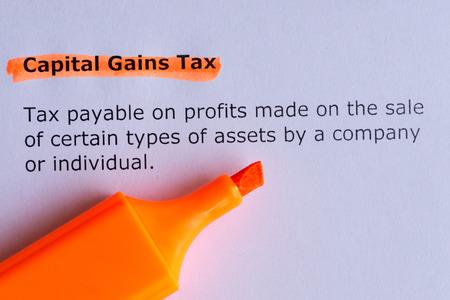capital gains: capital gains tax