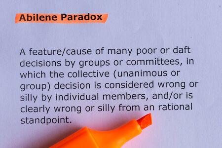 paradox: abiliene paradox