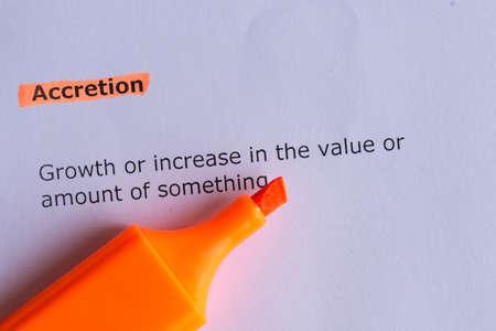 accretion: accretion