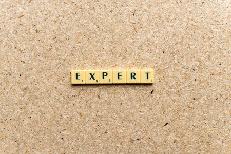 proficient: expert  word on the simple  wooden background Stock Photo
