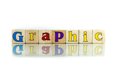 inteligible: colorido bloque palabra gráfica de madera en el fondo blanco