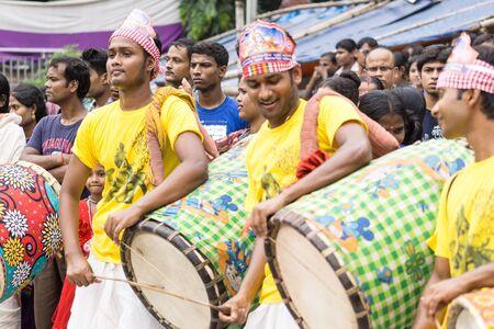 dhaka: Dhaka, Bangladesh - September 04, 2015: Janmashtami celebration in Dhakeshwari temple, Dhaka, Bangladesh