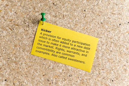 artifice: kicker word typed on a paper and pinned to a cork notice board Stock Photo
