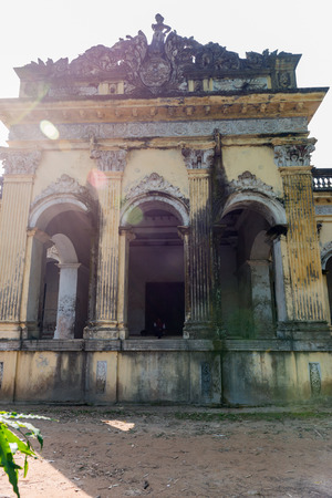 expanded: Natore, Bangladesh - September 29, 2015: Natore Rajbari (also known as Pagla Rajas Palace, Natore Palace) was a prominent royal palace in Natore, Bangladesh. It was the residence and seat of the Rajshahi Raj family of zamindars. Famous queen Rani Bhabani