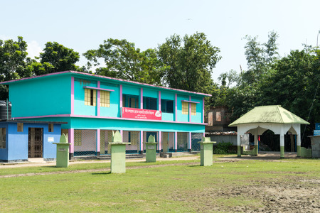 essayist: Kushtia, Bangladesh - September 28, 2015: The House of Mir Mosharraf Hossain. He was a Bengali language novelist, playwright and essayist in 19th century Bengal. He is principally known for his famous novel Bishad Sindhu. He is considered as the first nov