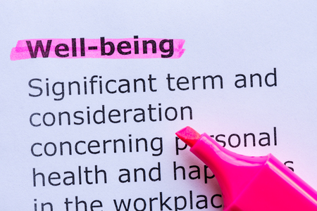 well being  word highlighted on the white background Stock Photo