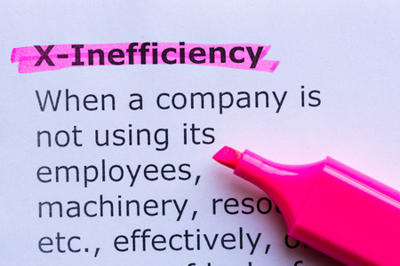 adequacy: x efficiency  word highlighted on the white background Stock Photo