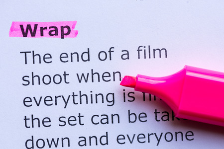 stole: wrap  word highlighted on the white background