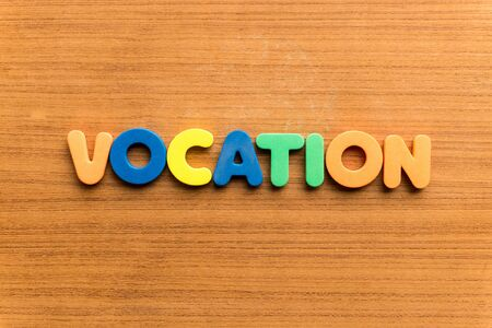vocation: vocation  colorful word on the wooden background Stock Photo