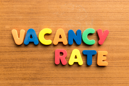 void: vacancy rate  colorful word on the wooden background