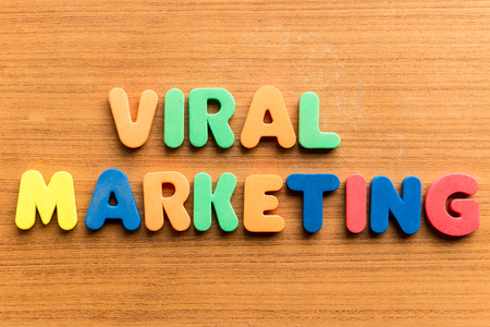 retailing: viral marketing  colorful word on the wooden background