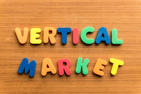 barter: vertical market  colorful word on the wooden background