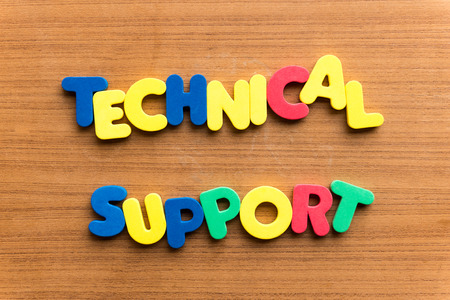 substructure: technical support  colorful word on the wooden background Stock Photo