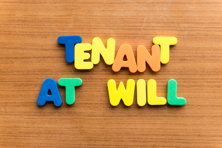 payer: tenant at will  colorful word on the wooden background Stock Photo
