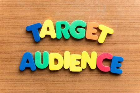 verifiable: target audience  colorful word on the wooden background