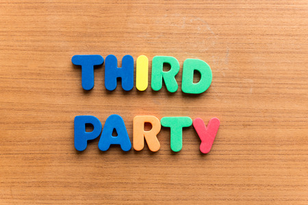 unbiased: third party colorful word on the wooden background