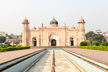 DHAKA, BANGLADESH - November 28, 2015: Visiting mausoleum of Bibipari in Lalbagh fort in Dhaka, Bangladesh.